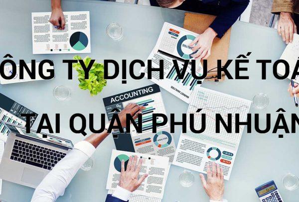 công ty dịch vụ kế toán tại quận Phú Nhuận